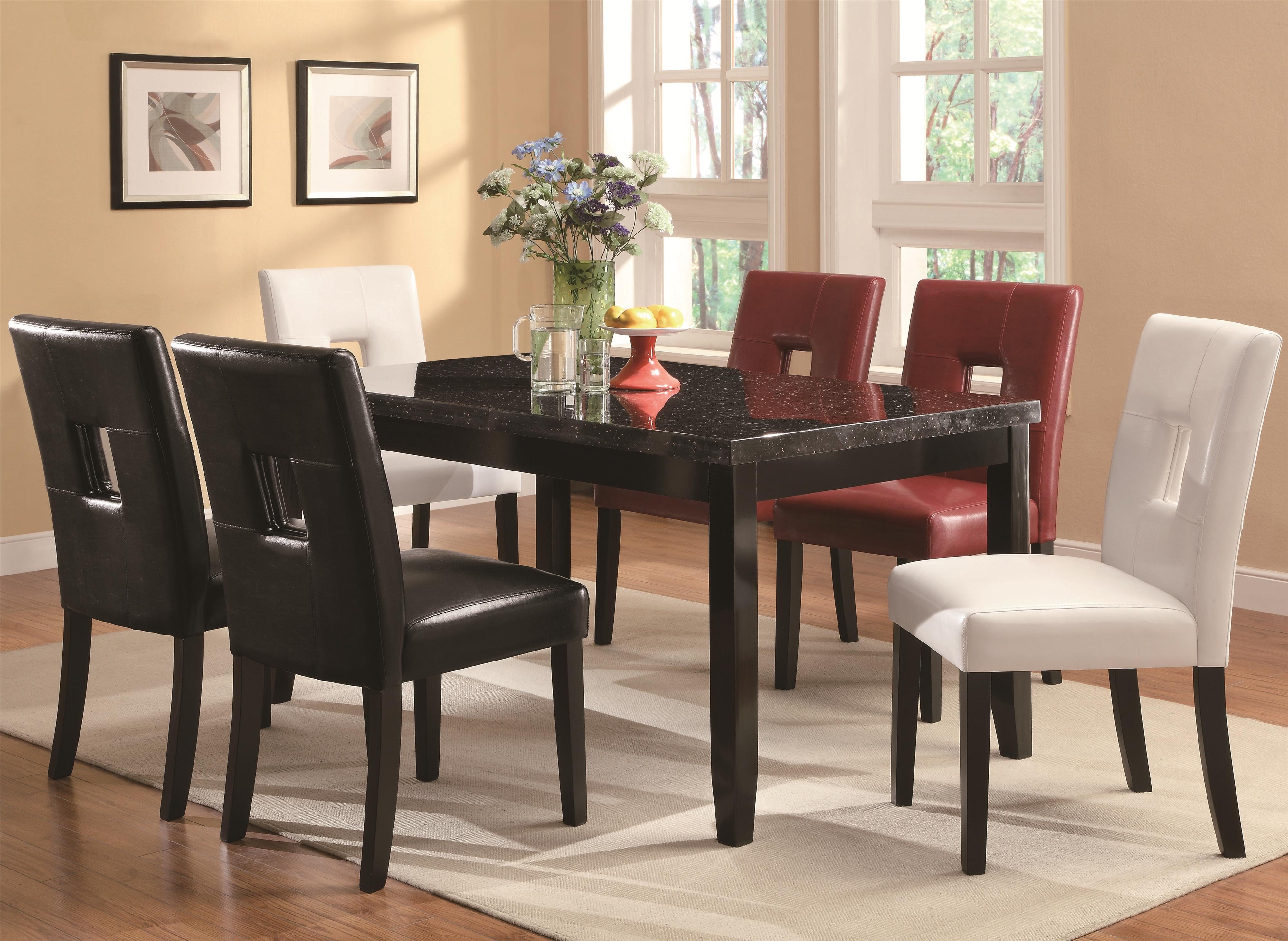 Dining side chair w plush seating by coaster wolf and gardiner wolf furniture - Plush dining room chairs ...