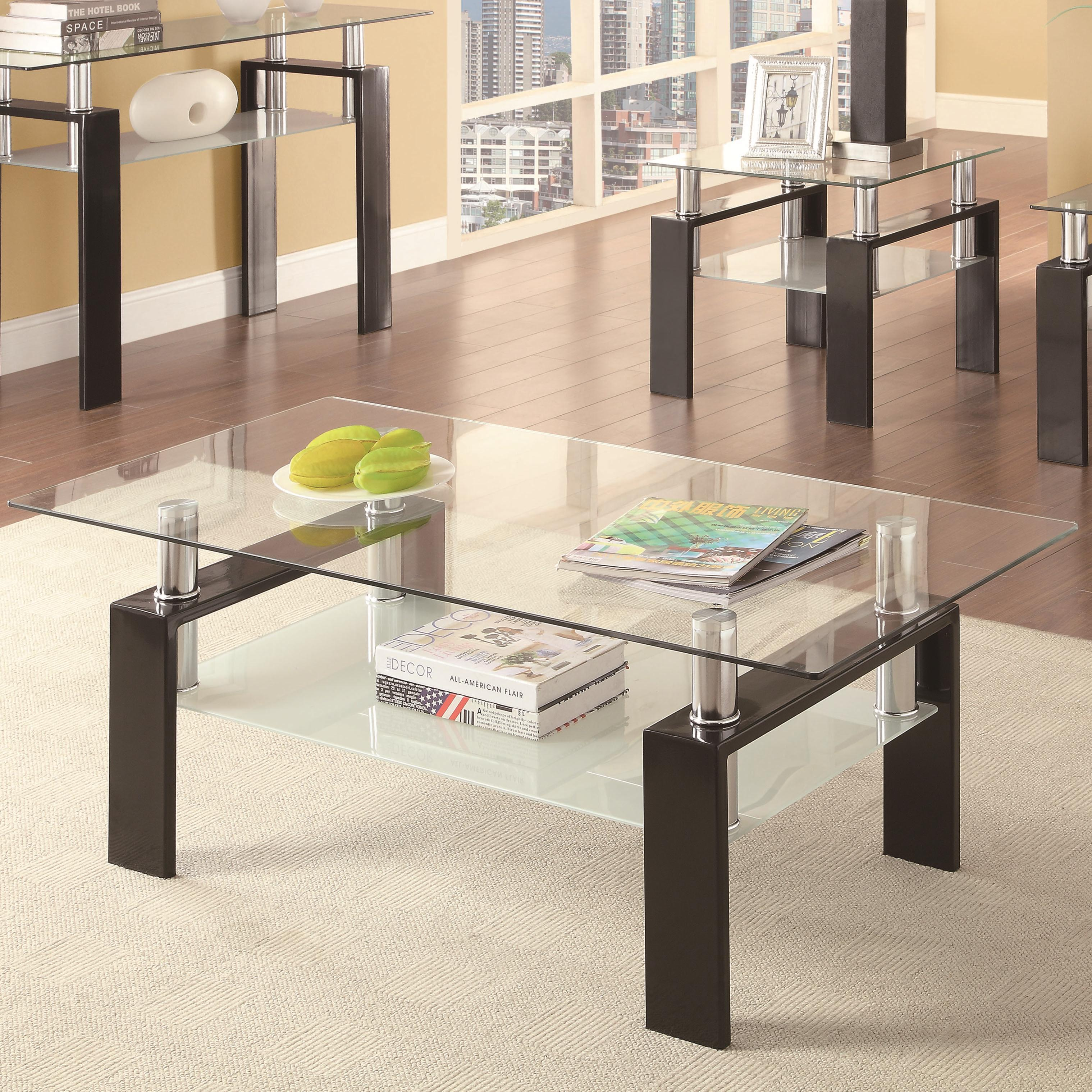 Tempered glass coffee table by coaster wolf and gardiner wolf tempered glass coffee table geotapseo Image collections