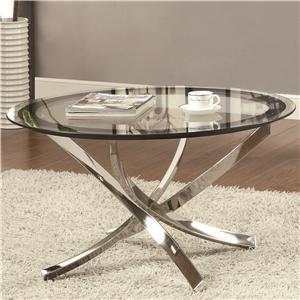 Cocktail Table w/ Tempered Glass Top