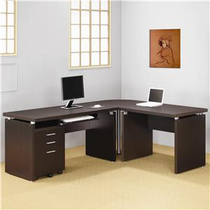 Coaster Skylar L Shape Desk