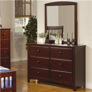 Coaster Parker Dresser and Mirror