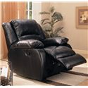Coaster Recliners Upholstered Rocker Recliner - Shown in Black Leather Like Fabric