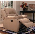 Coaster Recliners Upholstered Rocker Recliner - Also Available in Mocha Microfiber