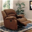 Coaster Recliners Upholstered Rocker Recliner - Also Available in Chocolate Microfiber