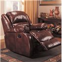 Coaster Recliners Upholstered Rocker Recliner - Also Available in Brown Leather Like Fabric