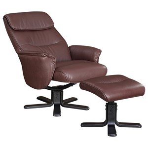 Leatherette Chair And Ottoman