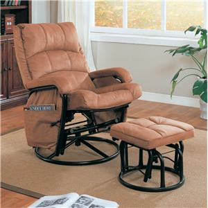 Glider Recliner with Matching Ottoman