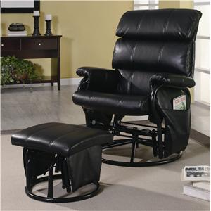 Coaster Recliners with Ottomans Recliner with Ottoman