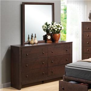 Coaster Remington Dresser and Mirror