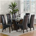 Coaster Rodeo Seven Piece Dining Set - Item Number: 102240+CB60RT+6x102242
