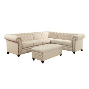 Coaster Roy Sectional Sofa with Armless Chair