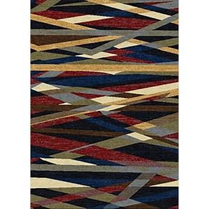 Multi-Color Striped Rug 5'2