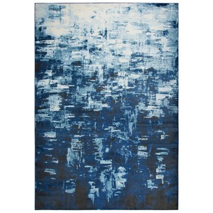 Blue Abstract Rug 5'2
