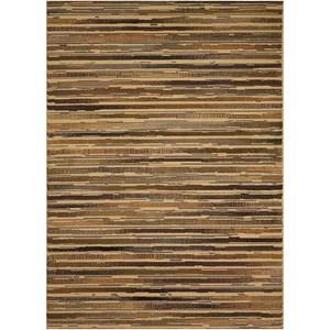 Brown Striped Rug 5'3