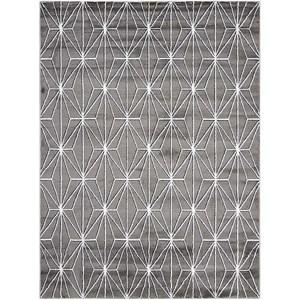 Charcoal Geometric Rug 5'3