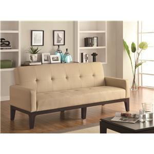 Tufted Sofa Bed with Track Arms