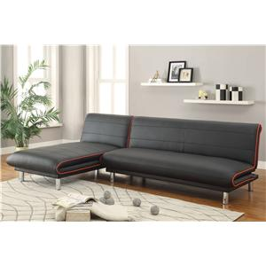Coaster Sofa Beds and Futons Sectional with Sofa Bed & Sofa Chaise