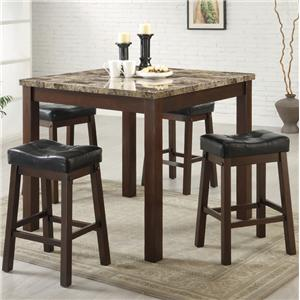 Coaster Sofie 5 Piece Counter Height Dining Set