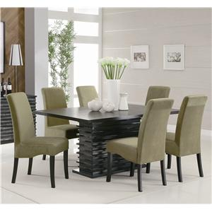 Coaster Stanton  7 Piece Table and Chair Set