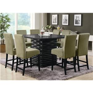 Coaster Stanton  9 Piece Counter Table and Chair Set