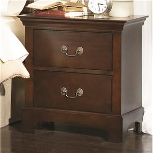 Transitional Two Drawer Night Stand