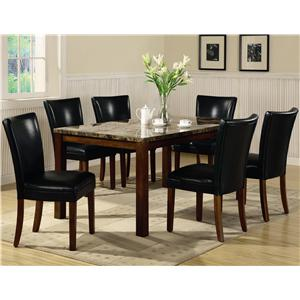 Coaster Telegraph 7 Piece Dining Set
