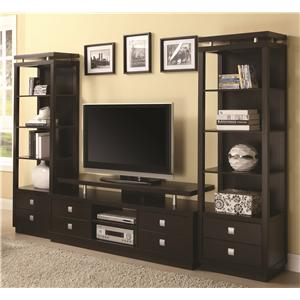 Coaster Wall Units TV Console & 2 Media Towers