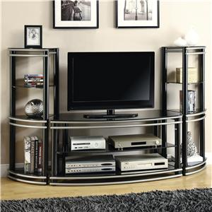 Coaster Wall Units TV Stand & 2 Media Towers