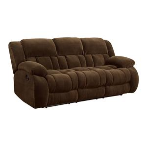 Casual Pillow Padded Reclining Sofa