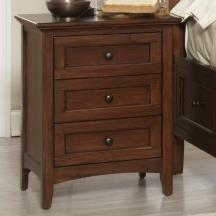Avalon Furniture Beacon St Solid Mahogany 3-Drawer Nightstand