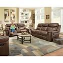 Corinthian 090301 Power Reclining Sofa w/ Power Headrest