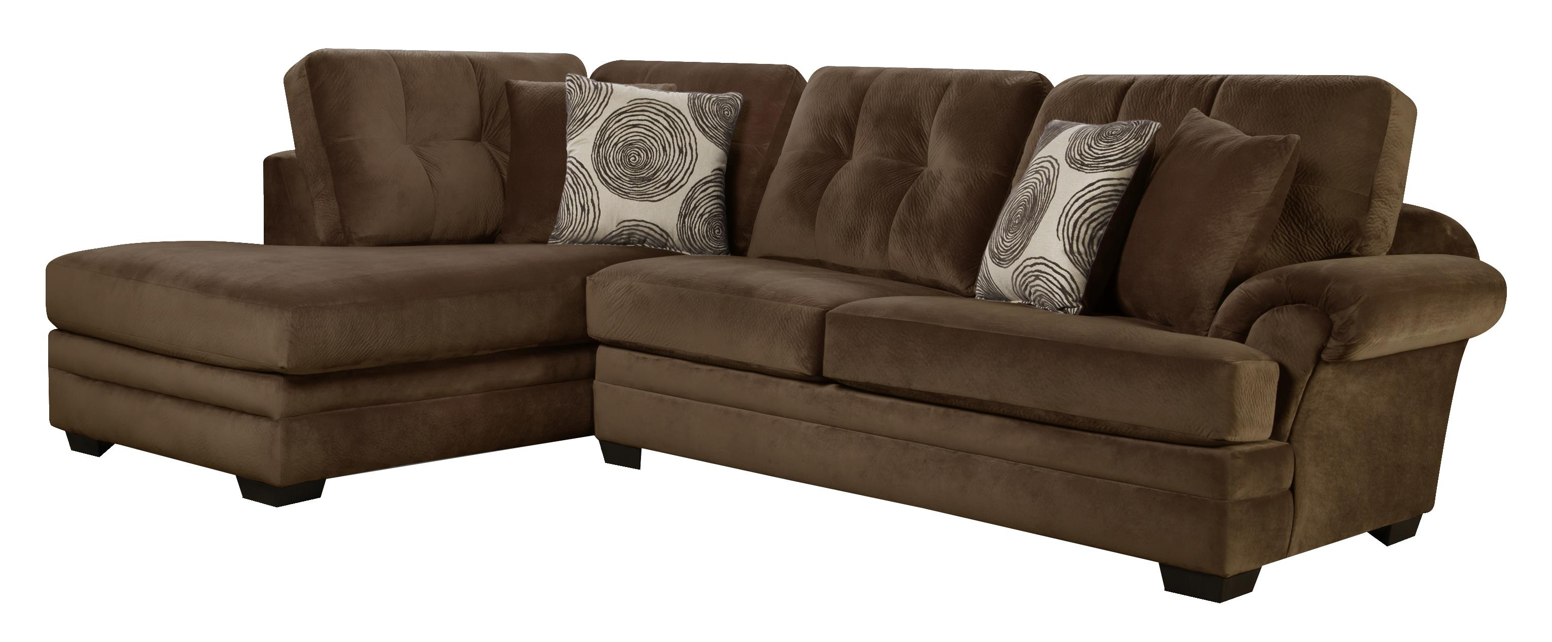 Small Sectional Sofa with Chaise on Left Side by Corinthian