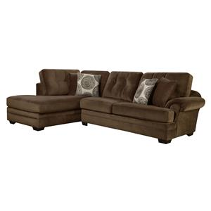 Small Sectional Sofa with Chaise (on Left Side)  sc 1 st  Wolf Furniture : corinthian furniture sectional - Sectionals, Sofas & Couches