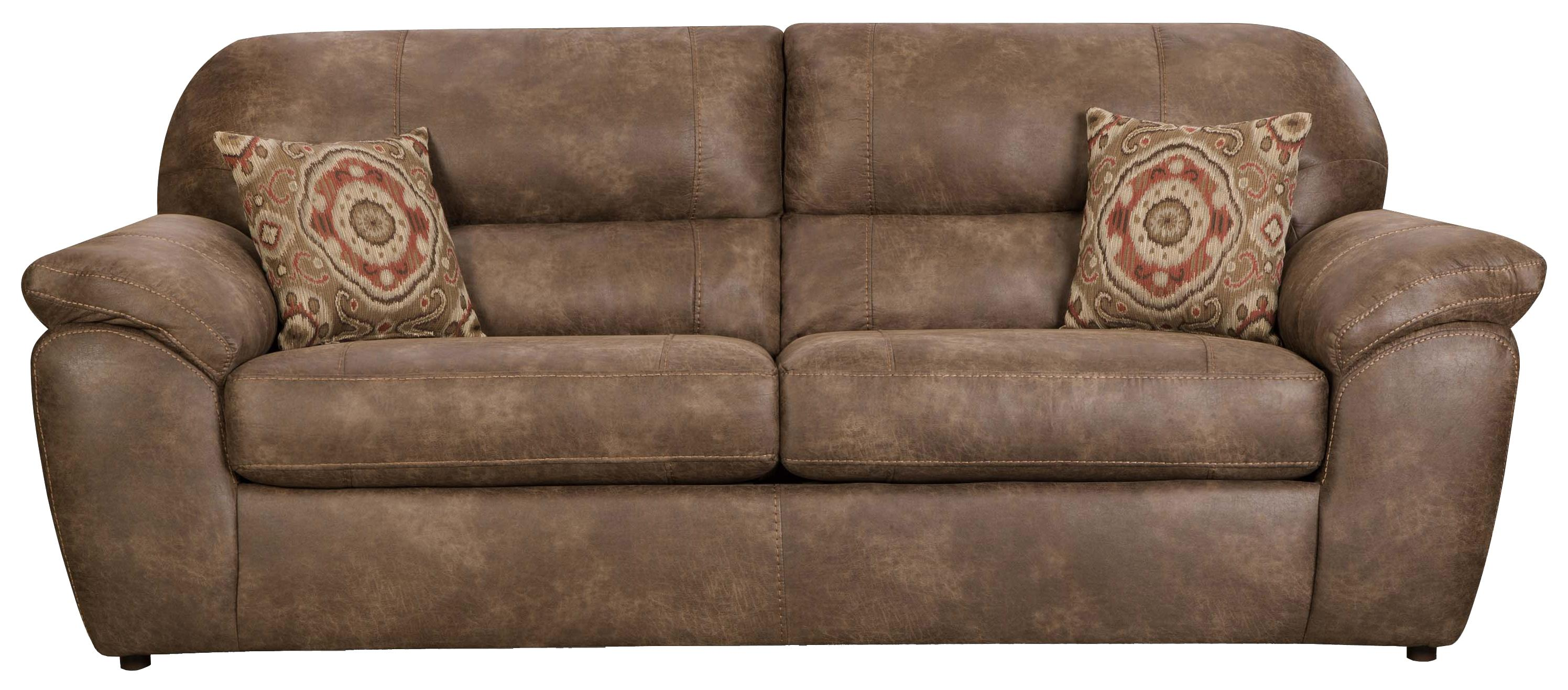 Exceptional Casual Faux Leather Plush Sofa