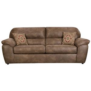 Casual Faux Leather  Plush Sofa