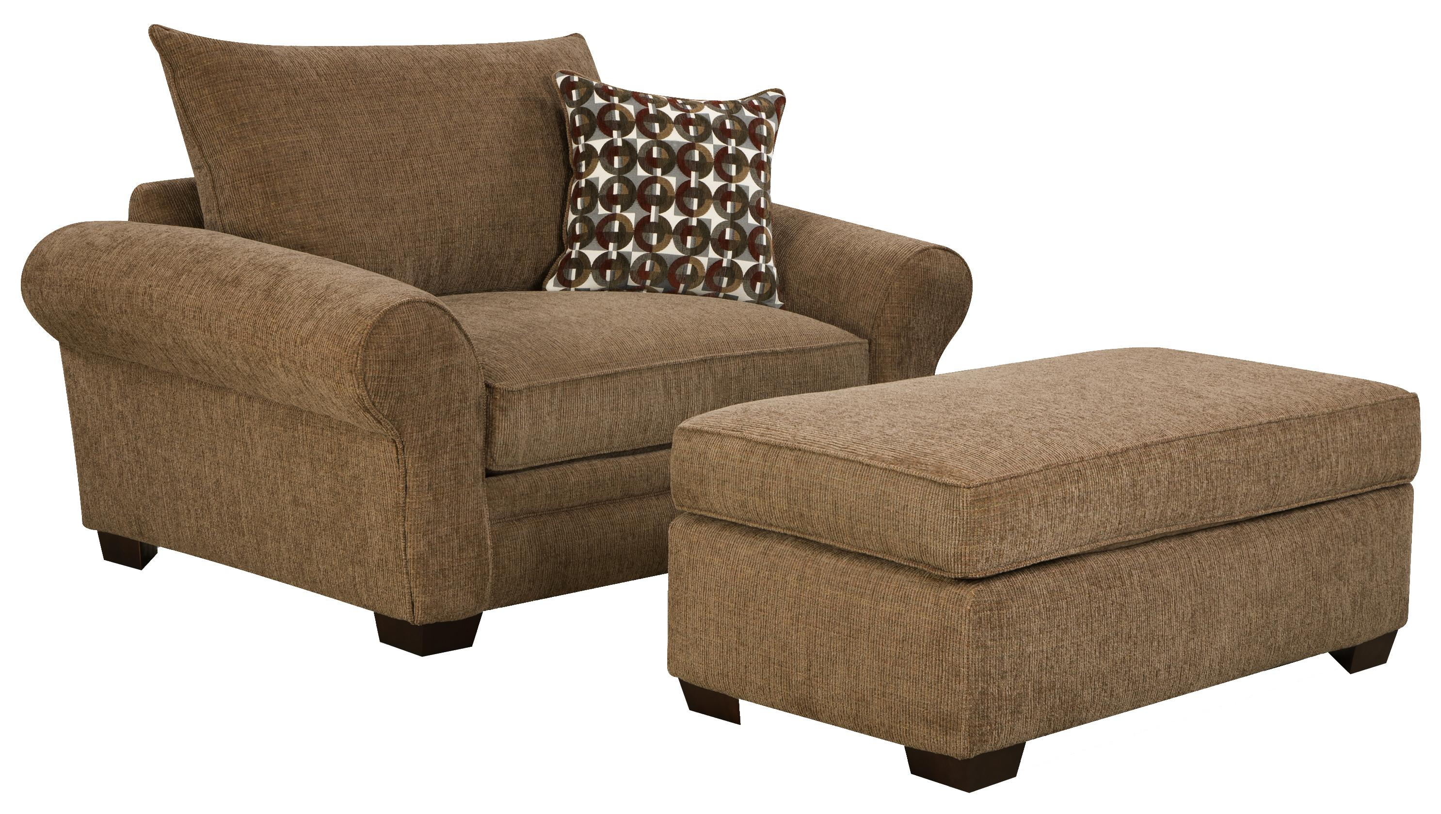 Extra Chair and a Half & Ottoman Set for Casual Styled
