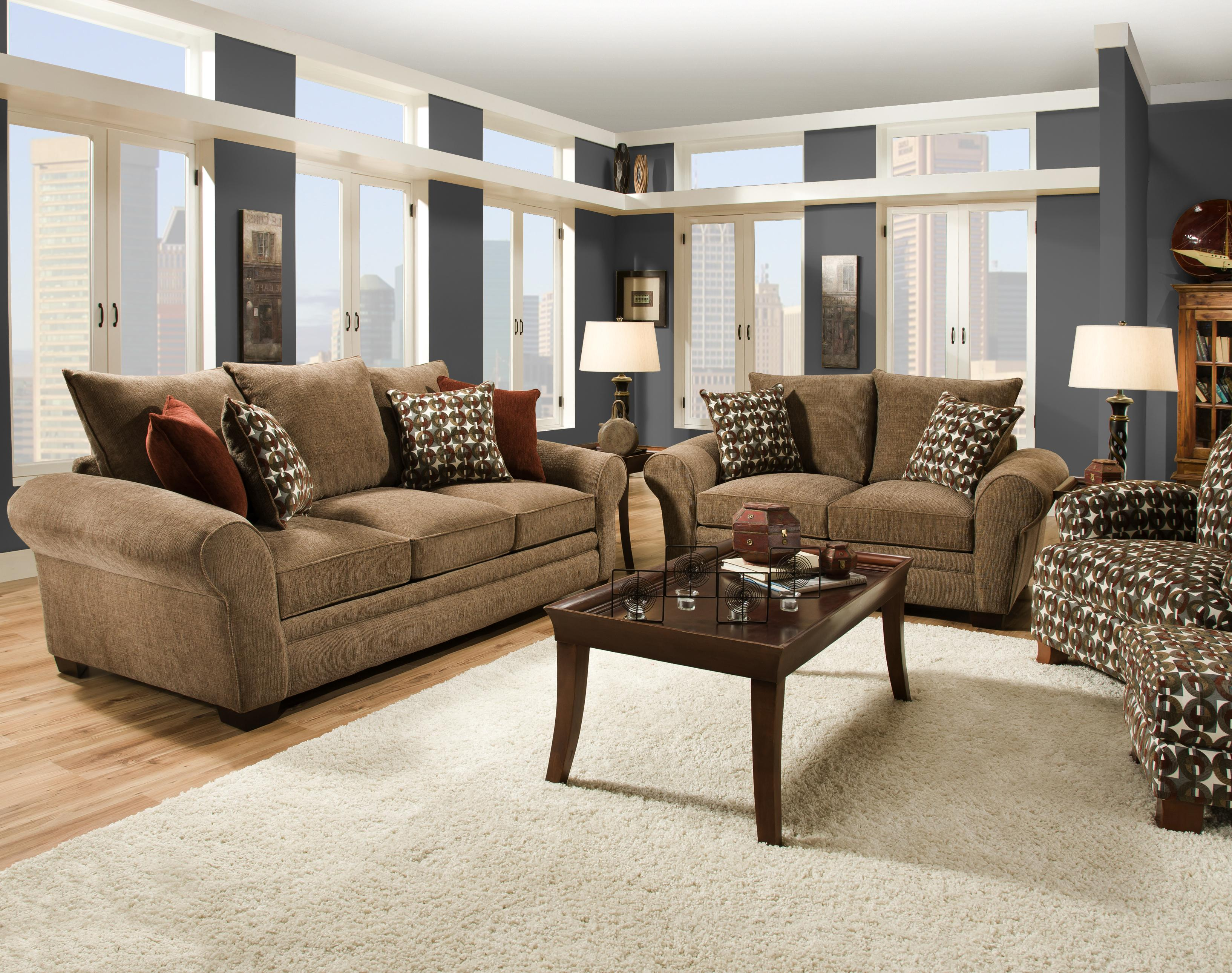 Comfortable Chairs For Family Room Part - 40: Traditional Styled Loveseat With Comfortable Look For Casual Family Living