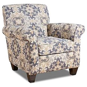 Accent Chair with Round Arms