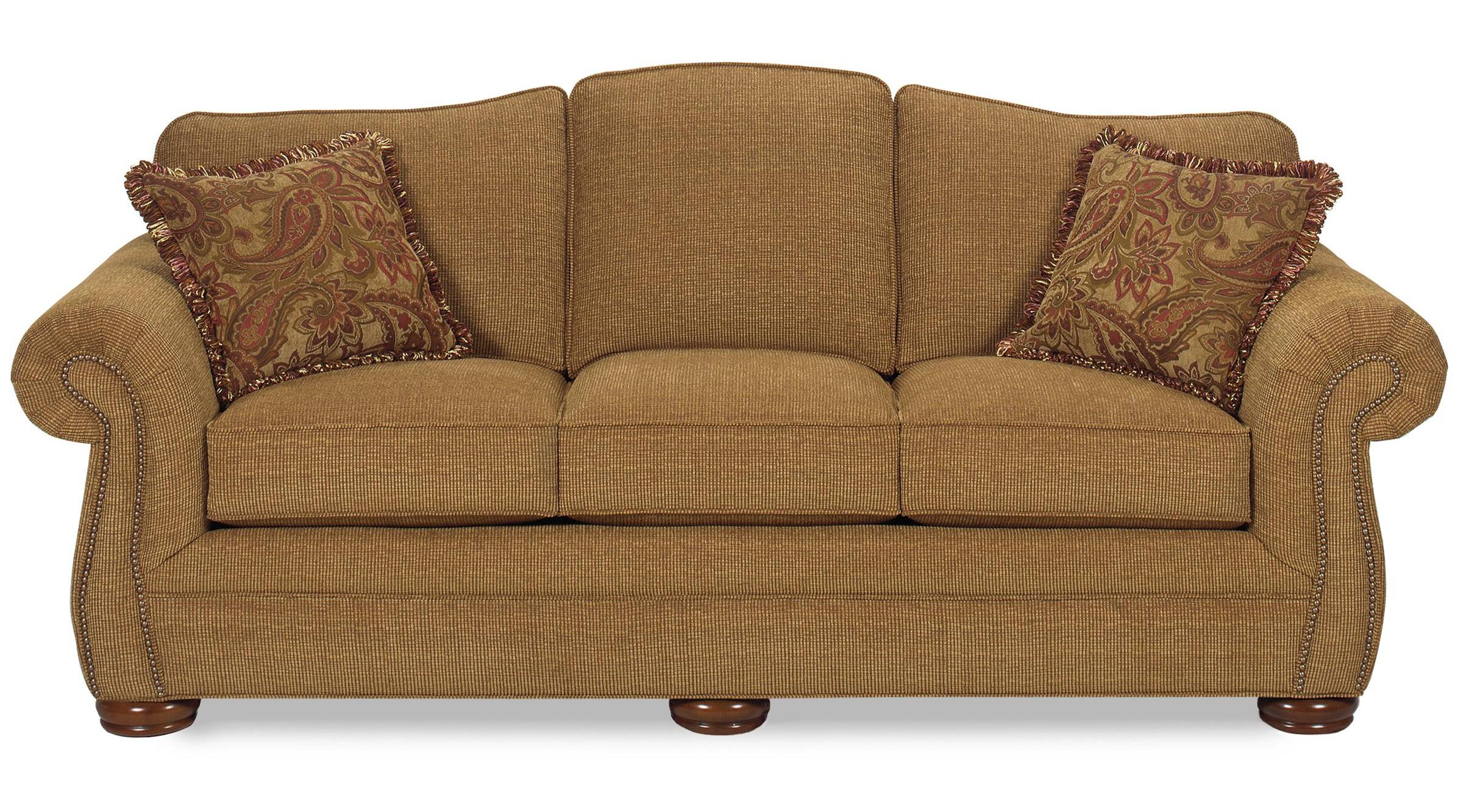 Bon Camelback Sofa With Regular Brass Nails