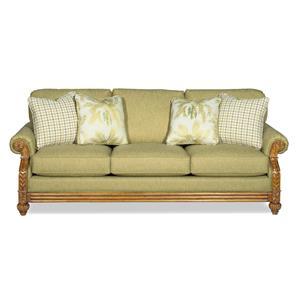 Craftmaster 722950 Casual Sofa Sleeper w/ Memory Foam Mattress