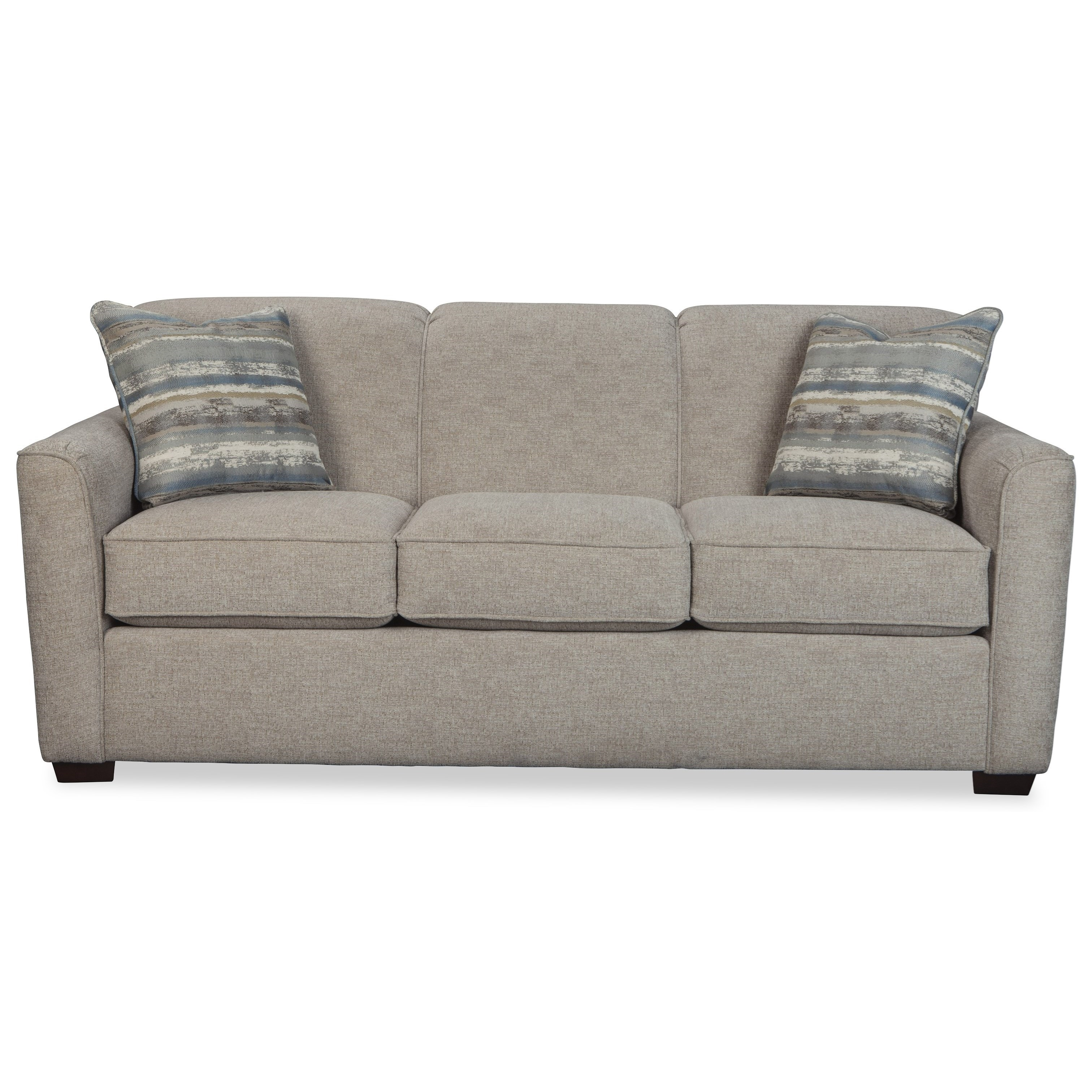 Memory Foam Sleeper Sofa: Contemporary Sleeper Sofa With Flared Track Arms And