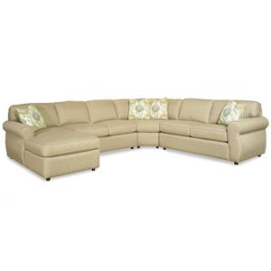Craftmaster 730100 4 Piece Sectional Sofa