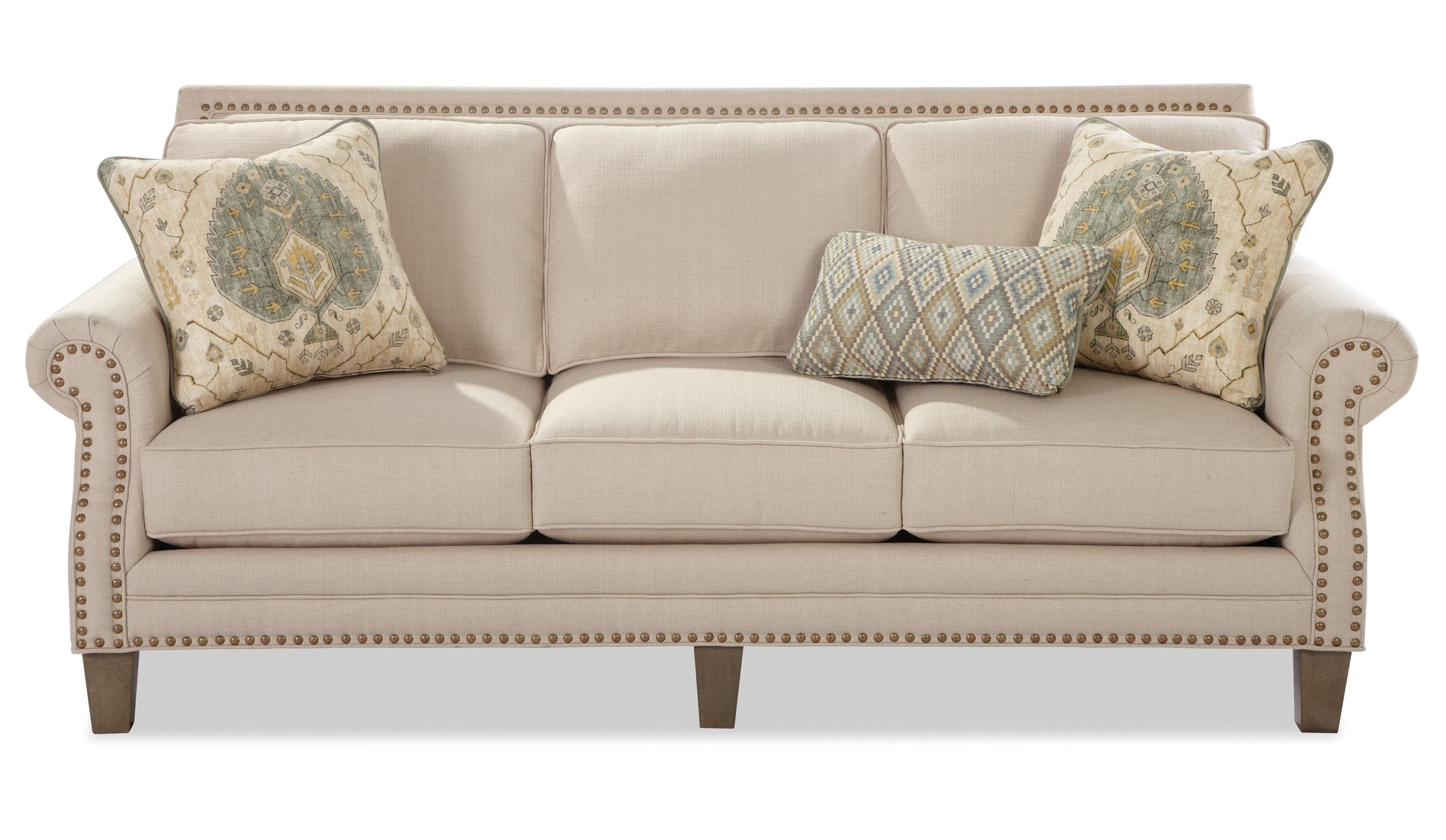 Transitional Sofa With Brass Nailheads By Craftmaster Wolf And  ~ What Is A Transitional Sofa