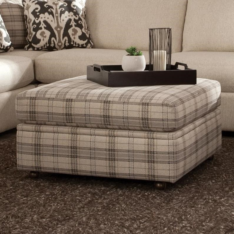 Sensational Square Storage Ottoman With Casters By Craftmaster Wolf Machost Co Dining Chair Design Ideas Machostcouk