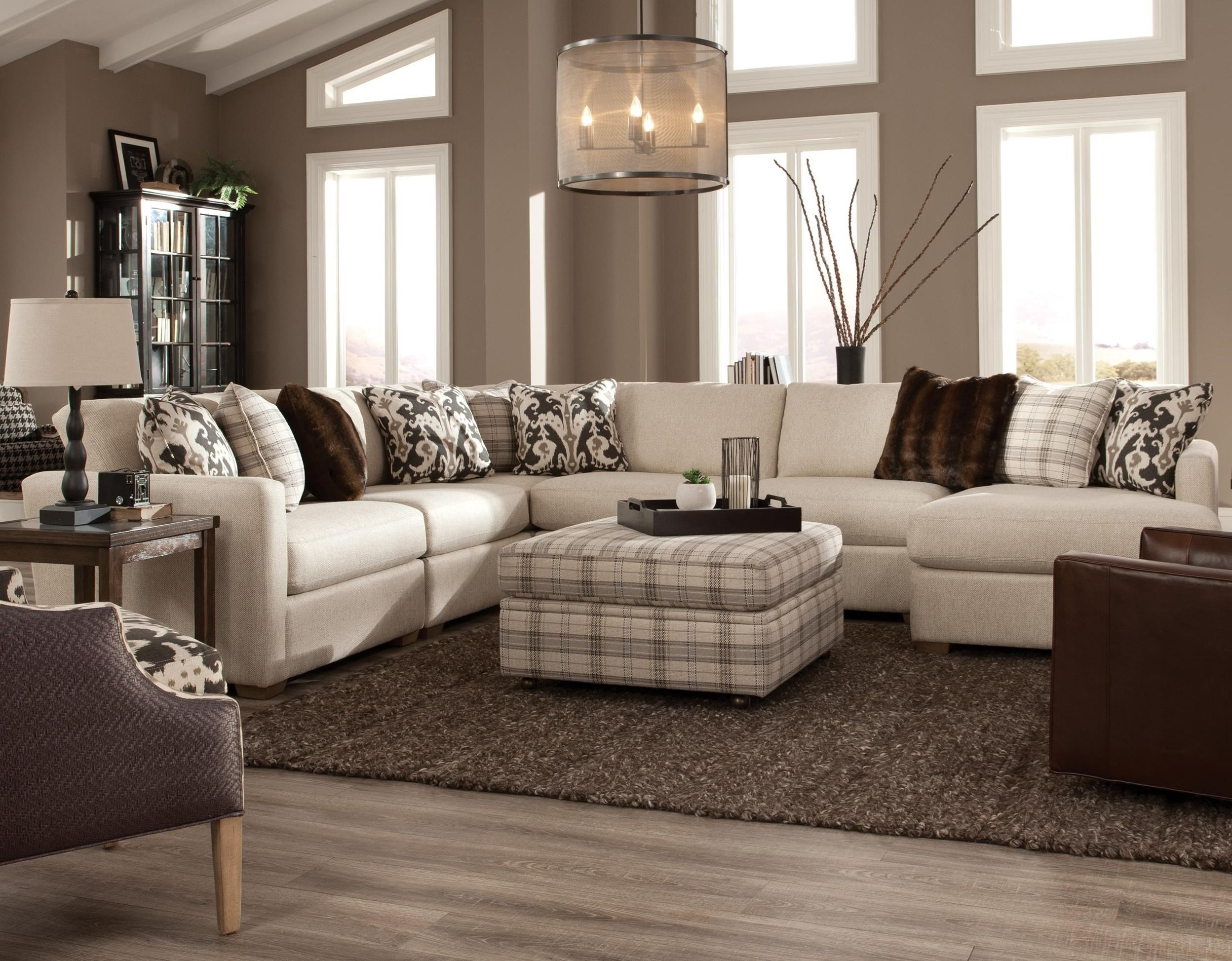 Five Piece Sectional with RAF Chaise