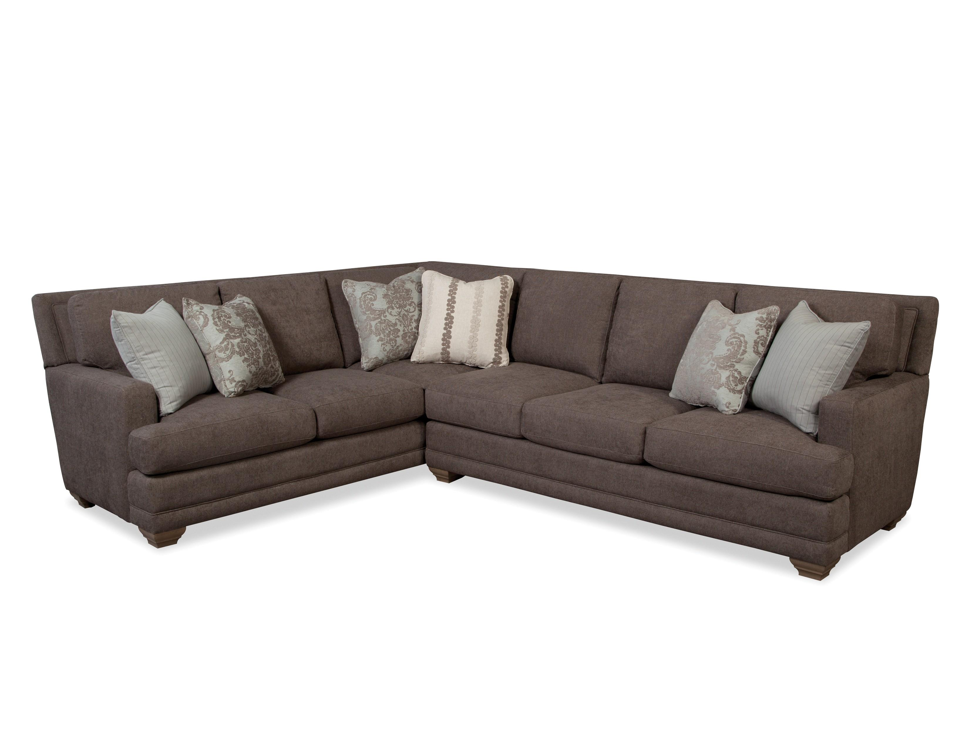Traditional Sectional Sofa with Toss Pillows by Craftmaster