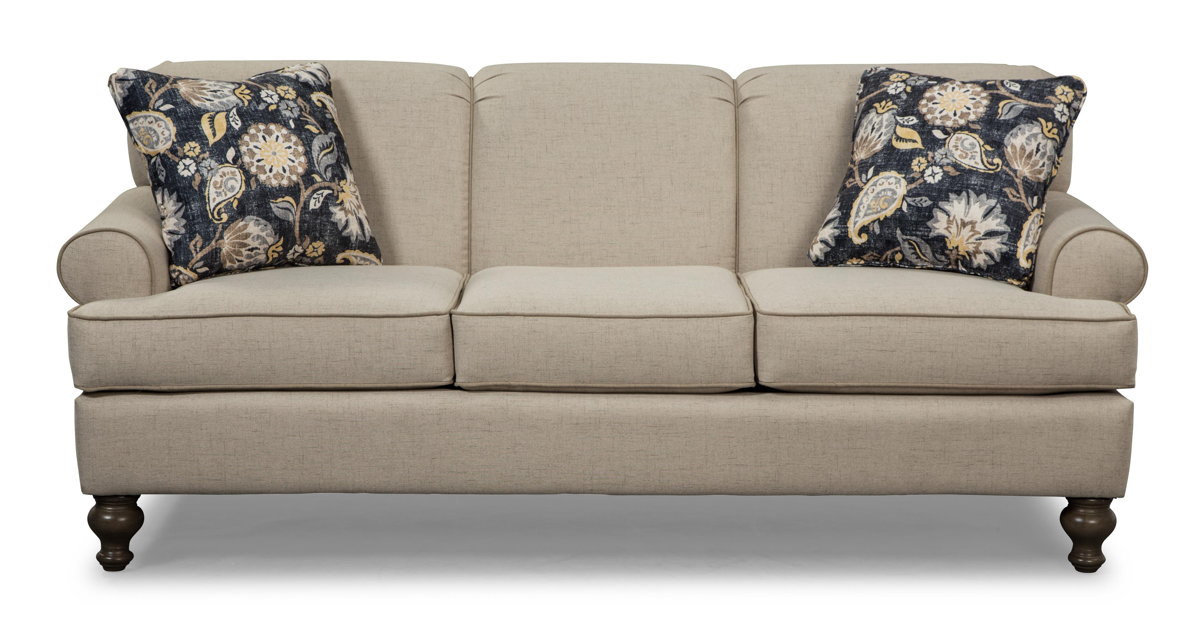 Small Scale Traditional Sofa by Craftmaster Wolf and Gardiner
