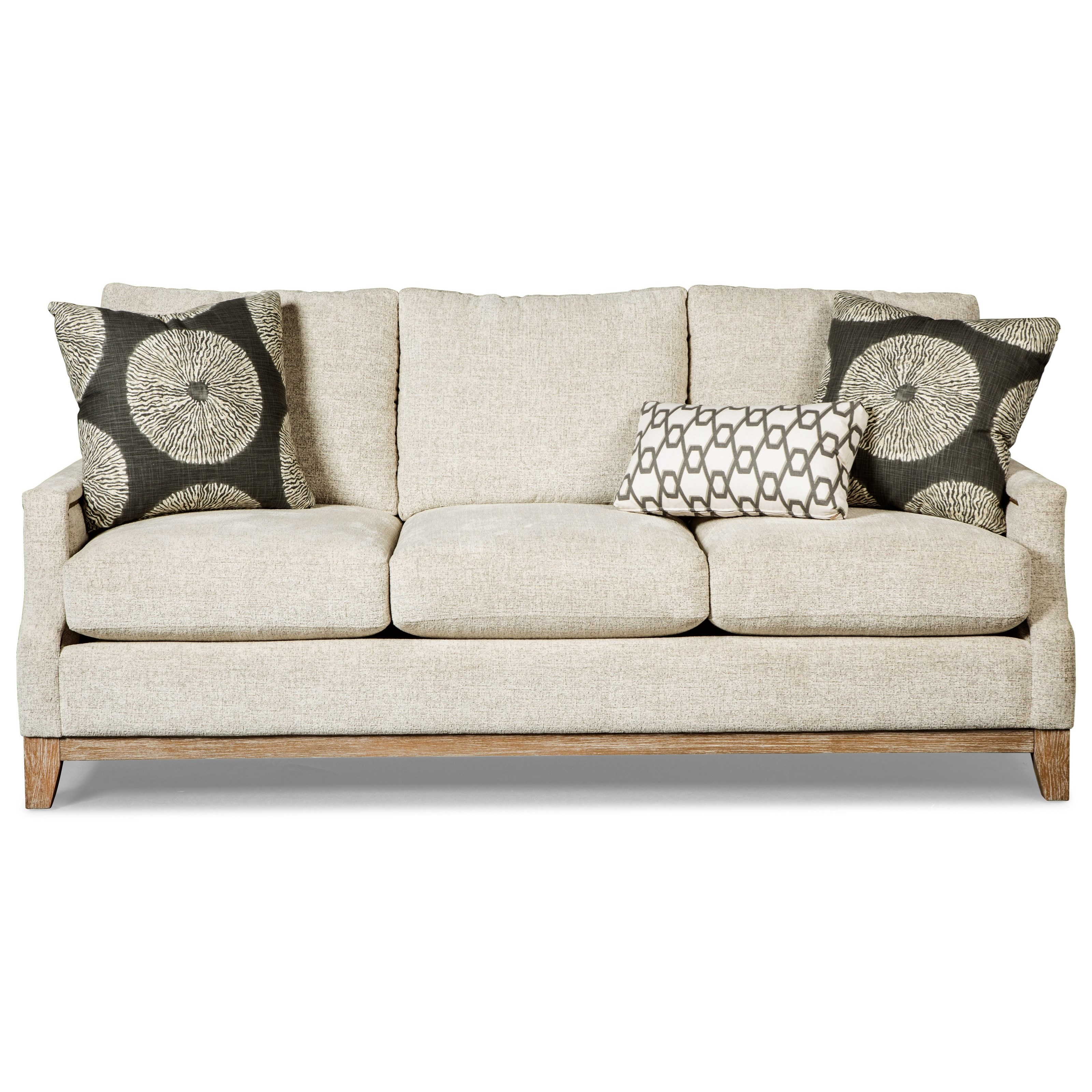 Vintage Sofa with Weathered Oak Rail and Brass Nails by