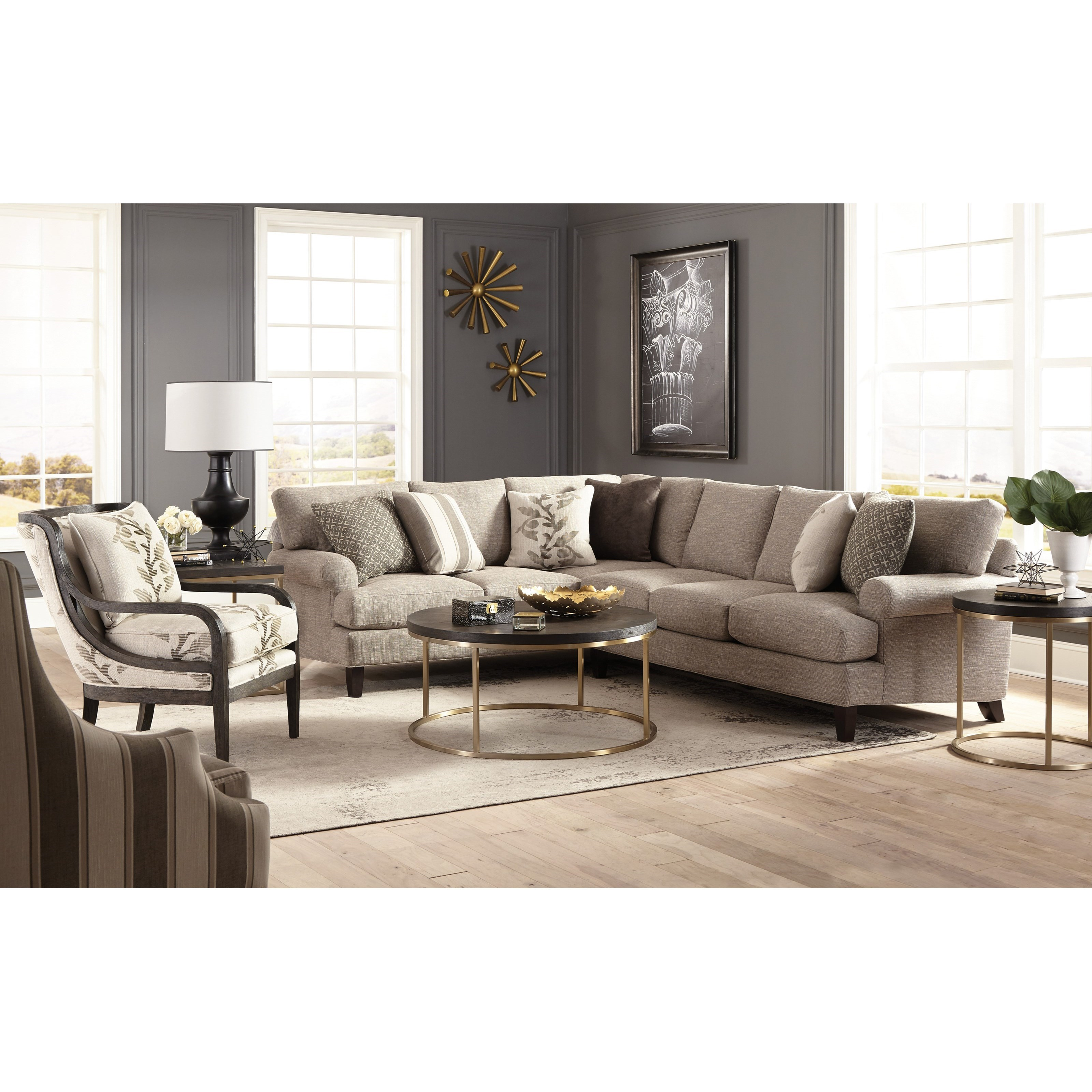 Two Piece Sectional Sofa With Laf Corner Sofa By Craftmaster  ~ Sectional Sofa Table Corner
