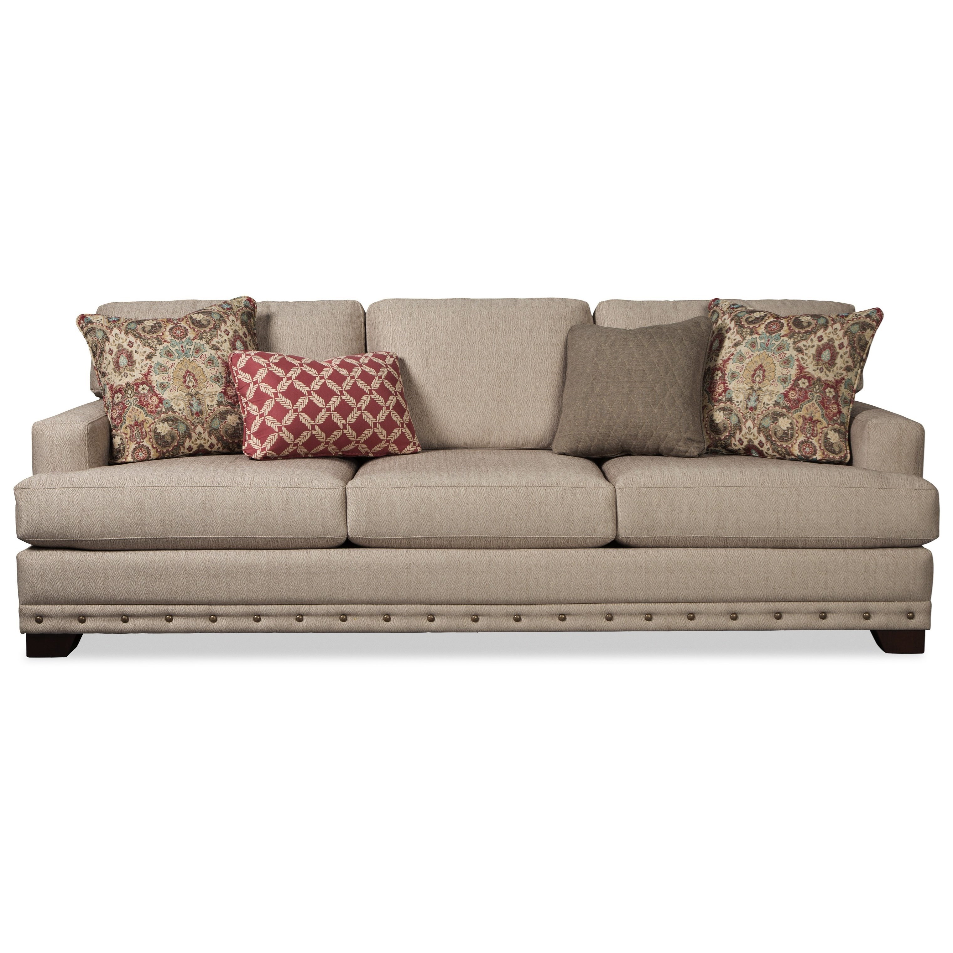 "Large 100"" Sofa With Deep Seats And Nailhead Border By"